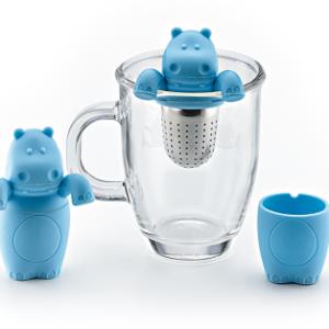 Hangend thee ei Nijlpaard