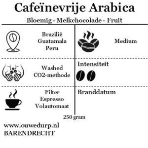 Cafeïnevrije Arabicabonen