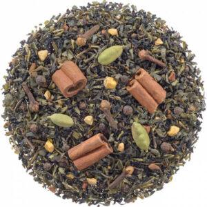 Losse zwarte/groene thee met specerijen
