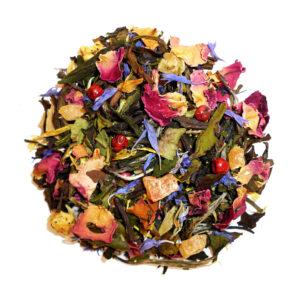 Losse witte thee met vruchten