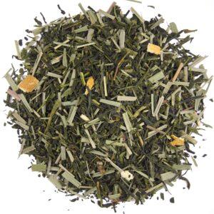 Losse groene thee met citroen