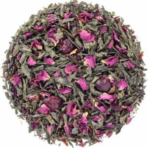 Losse groene thee met cranberry en roos