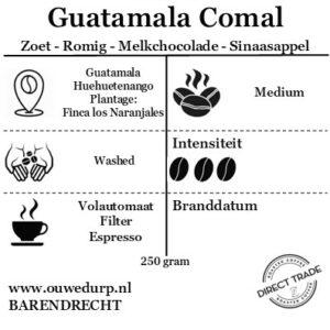 Guatemala Comal fairtrade koffiebonen