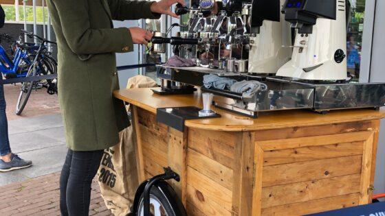 Koffie op locatie koffiefiets Barendrecht