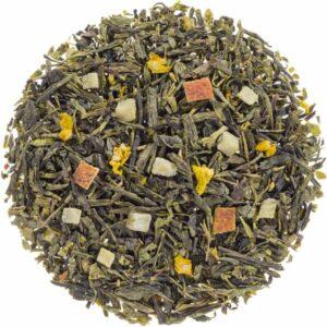 Losse groene thee met yuzu