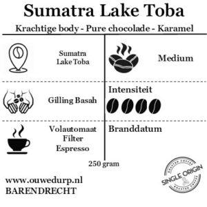 Sumatra Lake Toba koffiebonen
