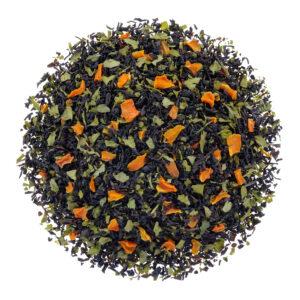 Losse zwarte thee met wortel en peterselie