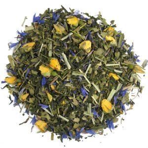 Losse groene thee met roos en lemongrass