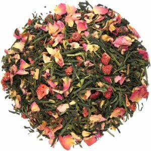 Groene thee aardbei kers